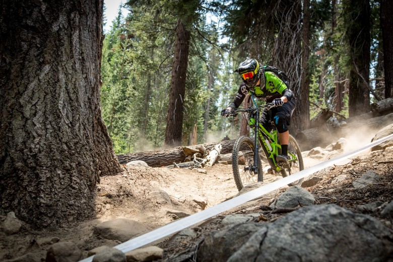 """""""Marco Osborne (WTB/Cannondale Overmountain) practicing one of the Rock Gardens on Stage 3."""""""