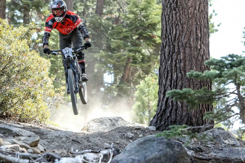 """""""Jeff Kendall- Weed sending it on the rock jump on stage 2."""""""
