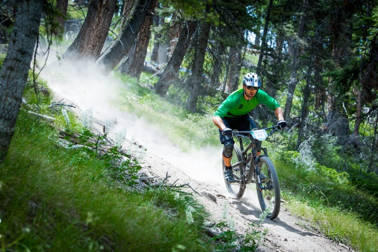 """The course combined ridgelines, stream crossings and high-mountain alpine trails. The course demanded riders have both fitness and focus to rip full-throttle on the descents"""