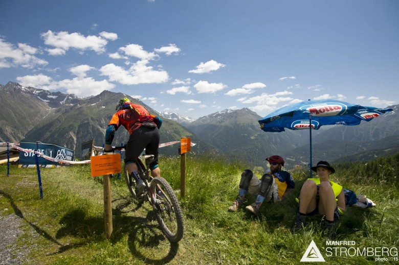 The weather is ideal for big mountain racing