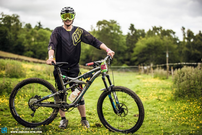 Craig Falconer was flying on the dual slalom stages on his Specialized Enduro