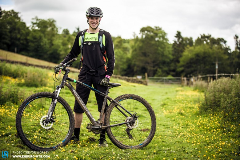 Jamie Nixon on his Orbea MX20, a great value hardtail