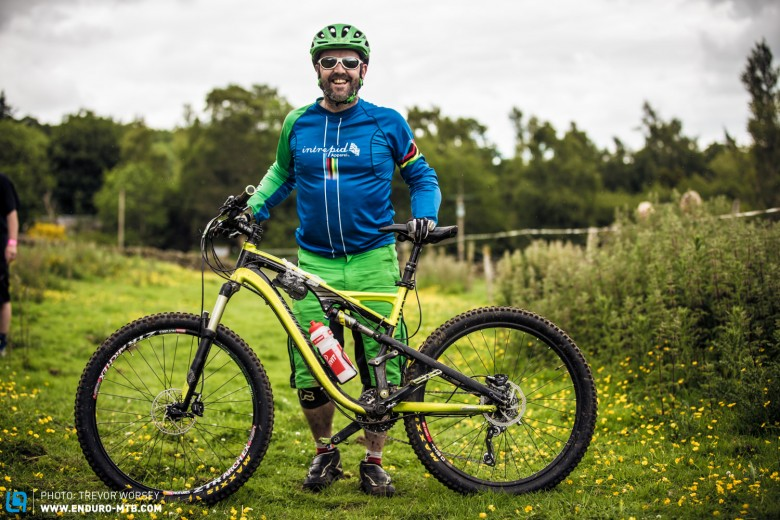 This Specialized Stumpjumper was the ideal bike for the day, riden by Joady MacRae