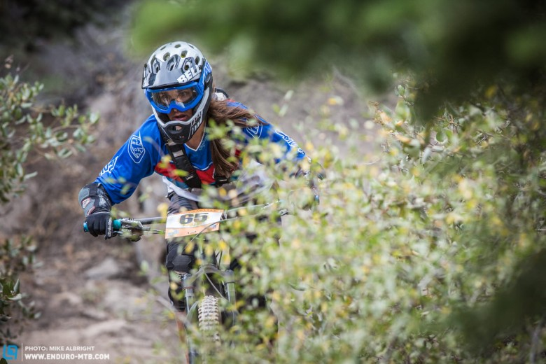 Alisha Engel is focussed 100% on the trail ahead because on Boondocks there's always something to watch for right around the corner