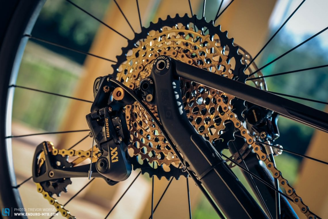 The new derailleur is a bigger unit than the 11 speed version.