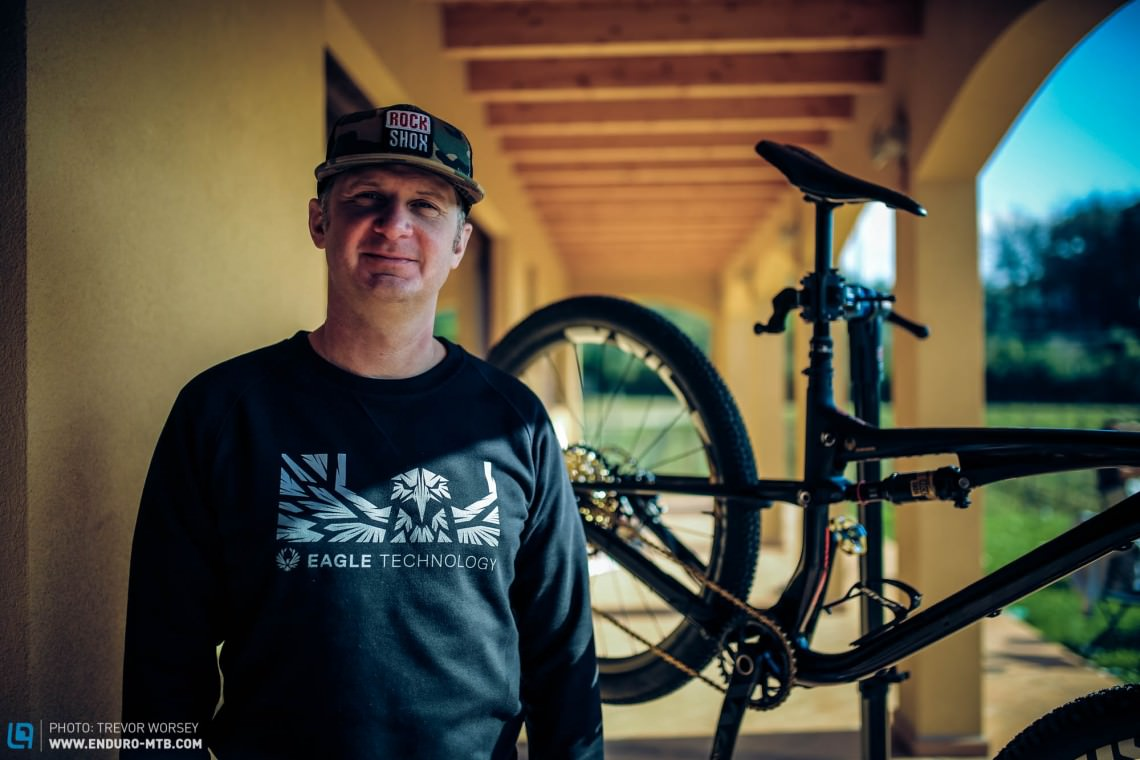 Chris Hilton, SRAM's Drivetrain Product Manager and the man behind the name.