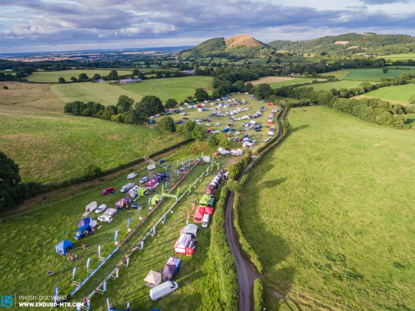 From the sky, the beautiful Shropshire venue.