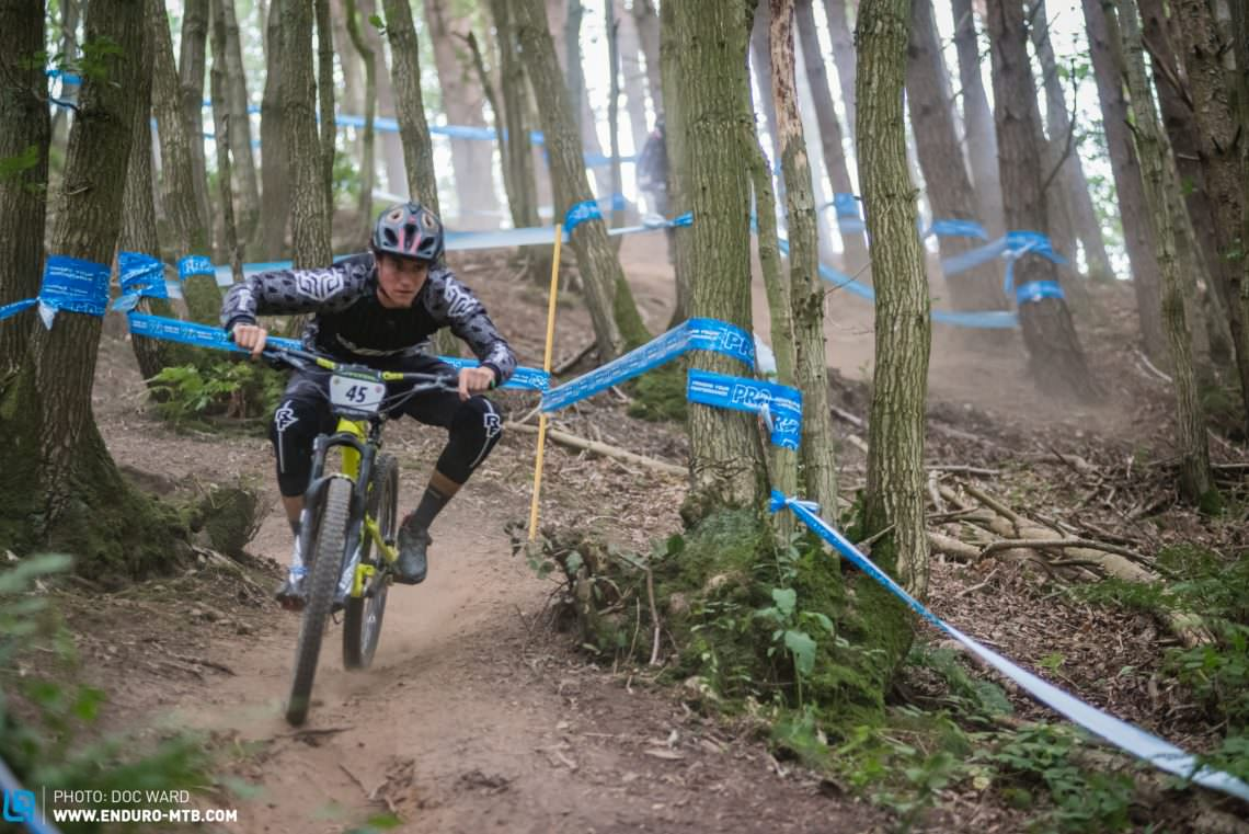 Taping was spot-on, no 'special enduro lines'  possible thankfully!