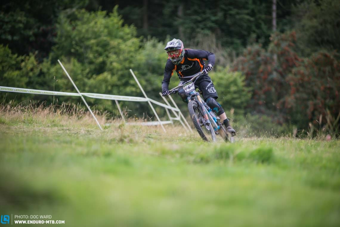 The final field section was just so fast and so much fun, Orange Bike's John Owen, fastest through speed trap.