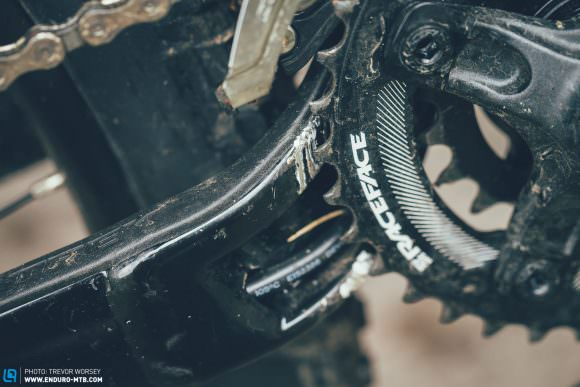 Chain nightmares: Clearance behind the chainstay is just enough to allow a dropped chain to jam inside. It didn't happen often, but made us mad when it did.