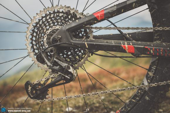 Massive The JAM darts up climbs thanks to the combo of the SRAM Eagle drivetrain's massive gear range and the JAM's sorted geometry.