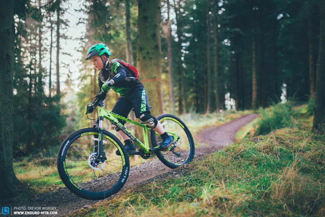 10-years old and loving it! The Whyte 403's confident handling, proper tyres and powerful brakes add bags of confidence. Riding kit: Jersey: Endura Kids Hummvee €34.99, Shorts; Endura Kids Hummvee €39.99 Gloves: Endura Kids Hummvee €19.99