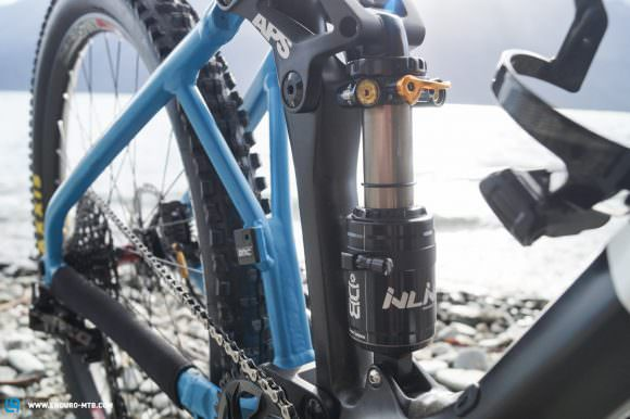 The developers at BMC worked closely alongside Cane Creek to create an individual and more efficient tune for the Double Barrel Inline rear shock.