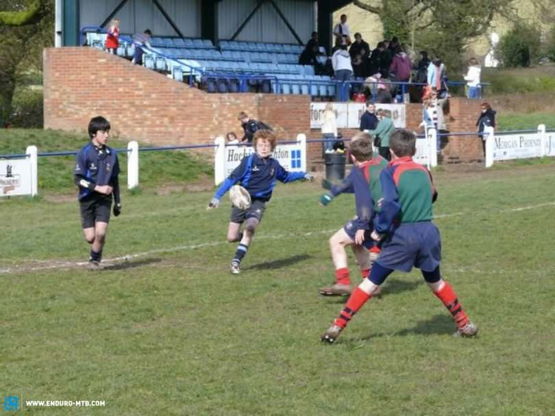 Alistair as a young Rugby player.