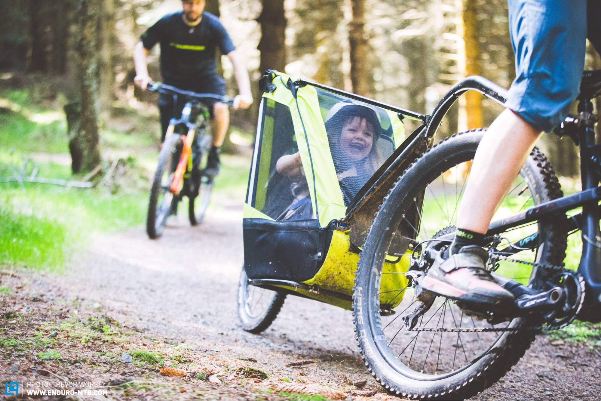 A Mountain Biker S Guide To Bike Trailers For Kids Enduro