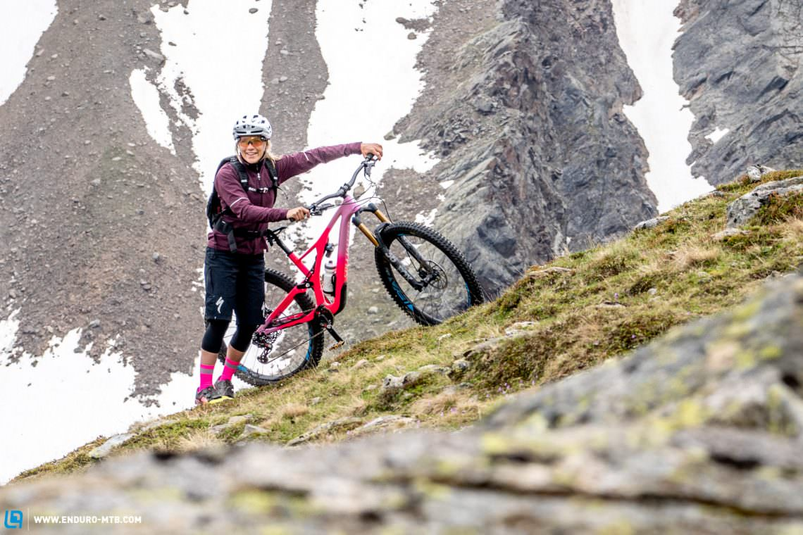 ef65450d604 With a travel schedule that takes her all over the globe, Hannah needs a  versatile bike, the Stumpjumper LT is the obvious choice.