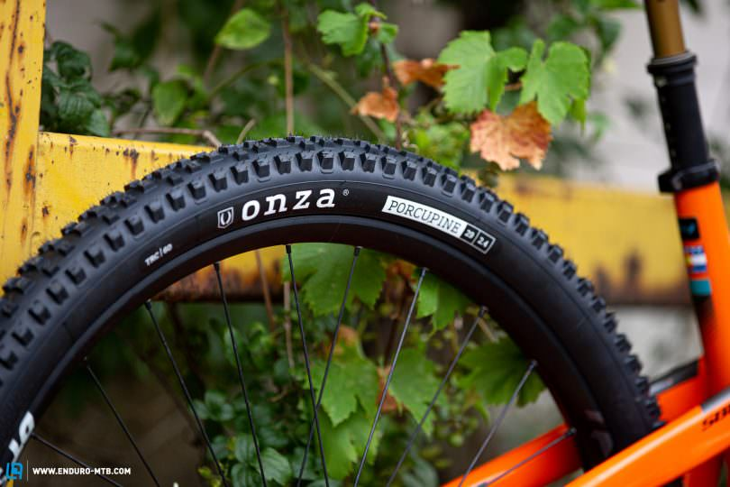 the new onza porcupine is a mixed-condition trail tire