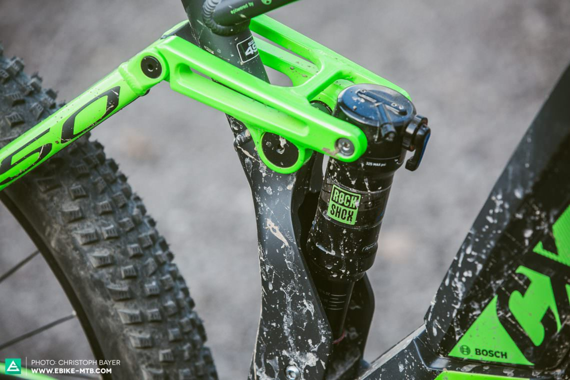 Plush work The RockShox Deluxe rear shock with the trunnion mount performs well on the BULLS and irons out bumps.