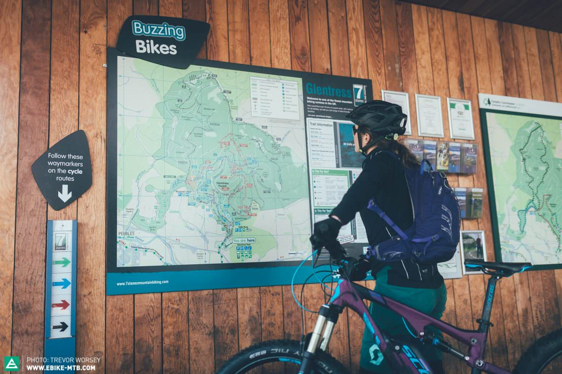 Could we ride every trail in Glentress Trail Centre in one charge?