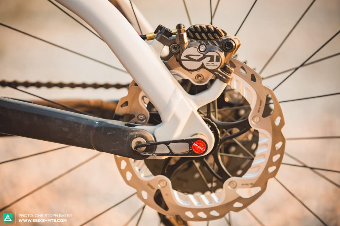 ff0fe0e78cf Decent brakes are essential for E-MTBs. Almost every manufacturer now opts  for bigger rotors in the pursuit of braking power, but too few are brave  enough ...