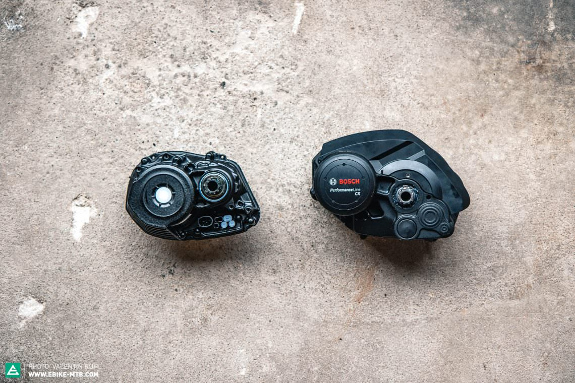 The Bosch Performance Line CX 2020 is approximatley 1.3 kg lighter than the older bosch-motor