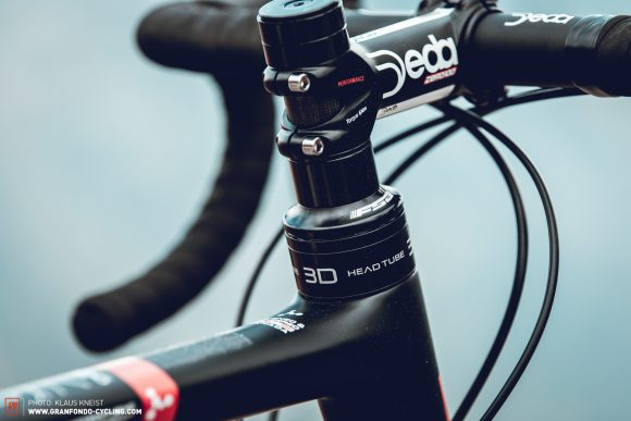 Heartbreaking looks: Argon 18's adjustable 3D System aims to provide clean looks by replacing traditional spacers. But the headtube would need to be longer to really benefit from the system's spectrum.