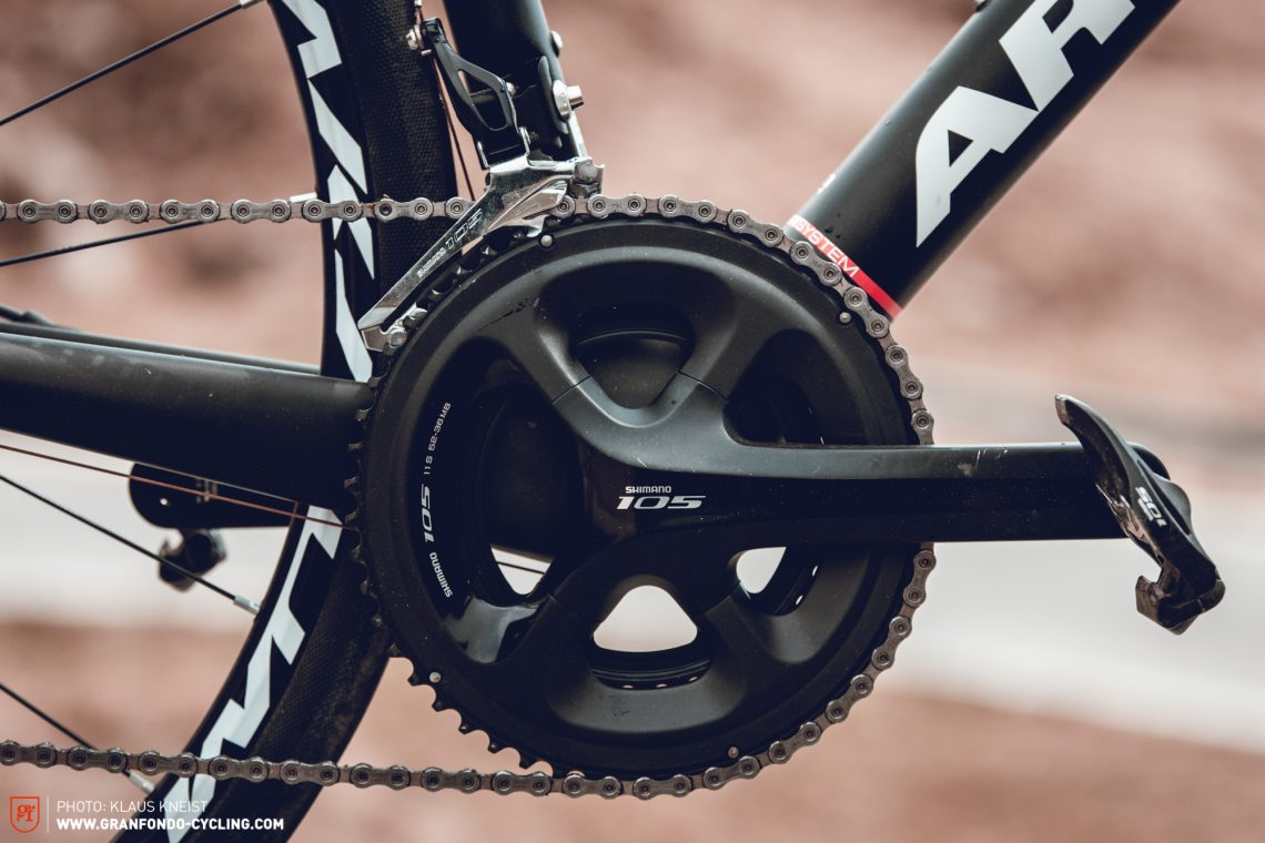 Budget friendly: Your bank balance will thank you for the Shimano 105 – at barely any cost to performance.