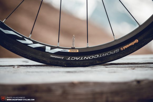 Heavy: The Mavic Aksium is by far the heaviest wheelset in the group test.
