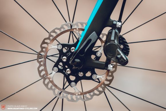 Limited: 160 mm discs should be the standard, especially for riders weighing above 80 kg who love going downhill as much as climbing. Trek, Giant and Argon 18 should do better.