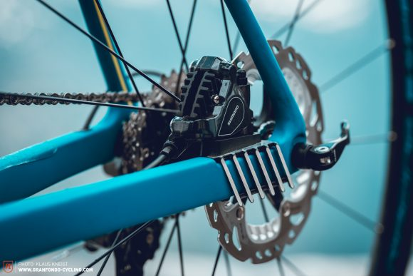 Play it cool: Merida's proprietary Disc Cooler reduces heat build-up. A very clever feature.